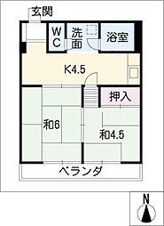 錦ビル[3階]の間取り
