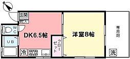 夕凪荘[102号室]の間取り
