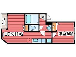 ピュアコート1.8[3階]の間取り