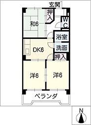 メゾン孝東[2階]の間取り