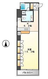 スクエア名駅南[5階]の間取り