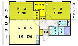 ケヤキハウス B[2階]の間取り