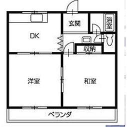 浅川ハイツ[2-3号室]の間取り