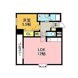 UBIビル飯塚[5階]の間取り