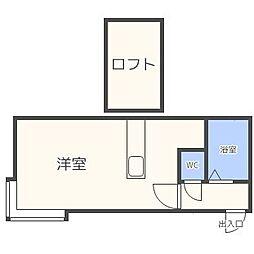 AMS N19[2階]の間取り