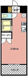 カーサ黒崎[302号室]の間取り