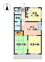 メゾン法吉[3階]の間取り