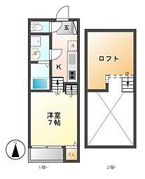 FAMILY STAGE伝馬町[2階]の間取り