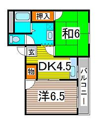 メゾンわらび[3階]の間取り
