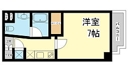 兵庫県神戸市中央区生田1丁目の賃貸マンションの間取り