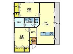 Osaka Metro中央線 緑橋駅 徒歩10分の賃貸マンション 3階2LDKの間取り
