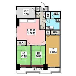 宝蔵院マンション[6階]の間取り