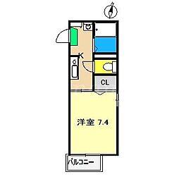 サン・ビレッジ百石[2階]の間取り