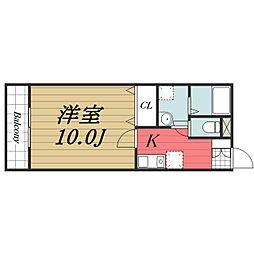 千葉県佐倉市下志津の賃貸アパートの間取り