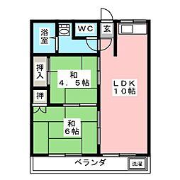 寝覚マンション[3階]の間取り