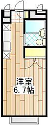 東京都町田市中町3の賃貸アパートの間取り