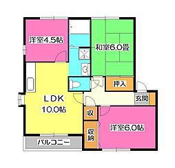 セントビラ92 B棟[2階]の間取り