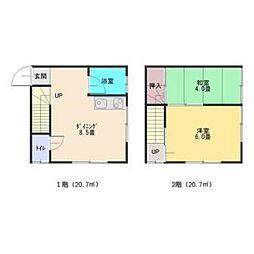 [一戸建] 東京都練馬区貫井3丁目 の賃貸【/】の間取り