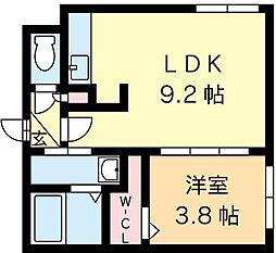北海道札幌市中央区南九条西16丁目の賃貸マンションの間取り