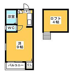 City Home箱崎駅前[1階]の間取り