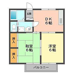 東京都江戸川区上篠崎1丁目の賃貸アパートの間取り
