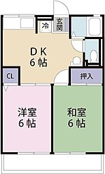 COZY弥生[1階]の間取り