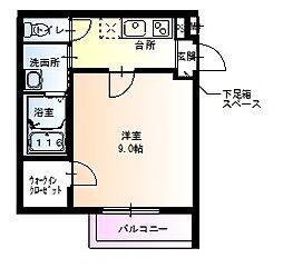 大阪府大阪市城東区野江3丁目の賃貸アパートの間取り