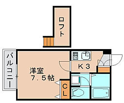 ベルハウス松崎[1階]の間取り