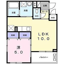 南清和園町アパート[0205号室]の間取り