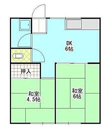 第三昌楽荘[5号室]の間取り