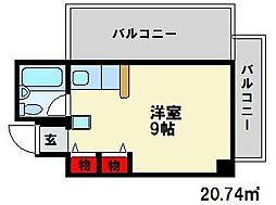 メゾンドカシェット[3階]の間取り