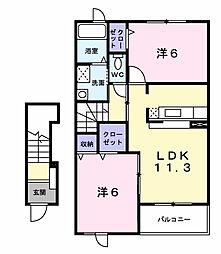 リバー ガーデン[2階]の間取り