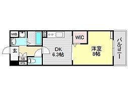 カーサベージュI[2O6号室号室]の間取り