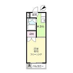 フラワーハイツ(大岡山)[2階]の間取り