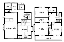 [一戸建] 静岡県浜松市中区和合町 の賃貸【静岡県 / 浜松市中区】の間取り