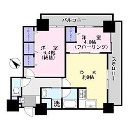 ヴィルヌーブタワー駒沢[5階]の間取り