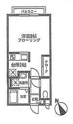 旭区鶴ヶ峰1丁目 ファースト・ベル103号室[1階]の間取り