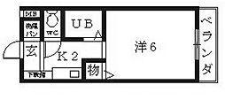 プログレス小山[105号室号室]の間取り