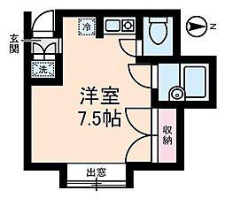 東京都杉並区西荻北5丁目の賃貸アパートの間取り
