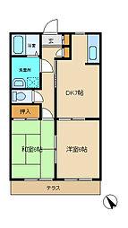 バリュージュ五井[102号室]の間取り