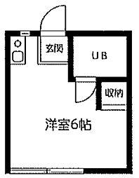 東京都狛江市和泉本町2丁目の賃貸アパートの間取り