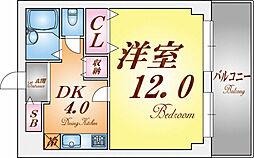 ヴィラン橋本[208号室]の間取り