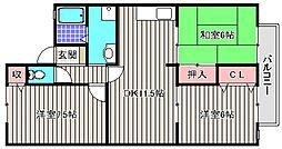 シャイニーSHIBATA II[2階]の間取り