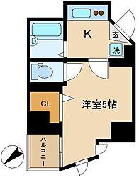 東京都品川区大井3丁目の賃貸マンションの間取り