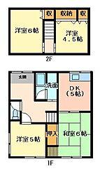 [一戸建] 兵庫県たつの市龍野町富永 の賃貸【兵庫県 / たつの市】の間取り