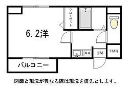 博多ブライトンハウス[8階]の間取り