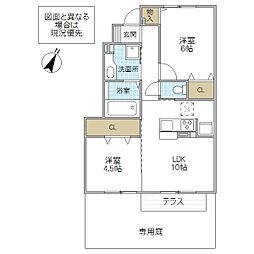 (仮)D-room永国[102号室号室]の間取り