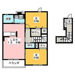モンターニュ トロワ[2階]の間取り
