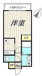 福岡市地下鉄箱崎線 馬出九大病院前駅 徒歩17分の賃貸マンション 7階1Kの間取り