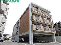 三重県桑名市大字江場の賃貸マンションの外観